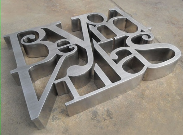 Custom Brushed Stainless Steel Alphabet Letters